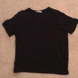 Zara trafaluc black T-shirt womens medium